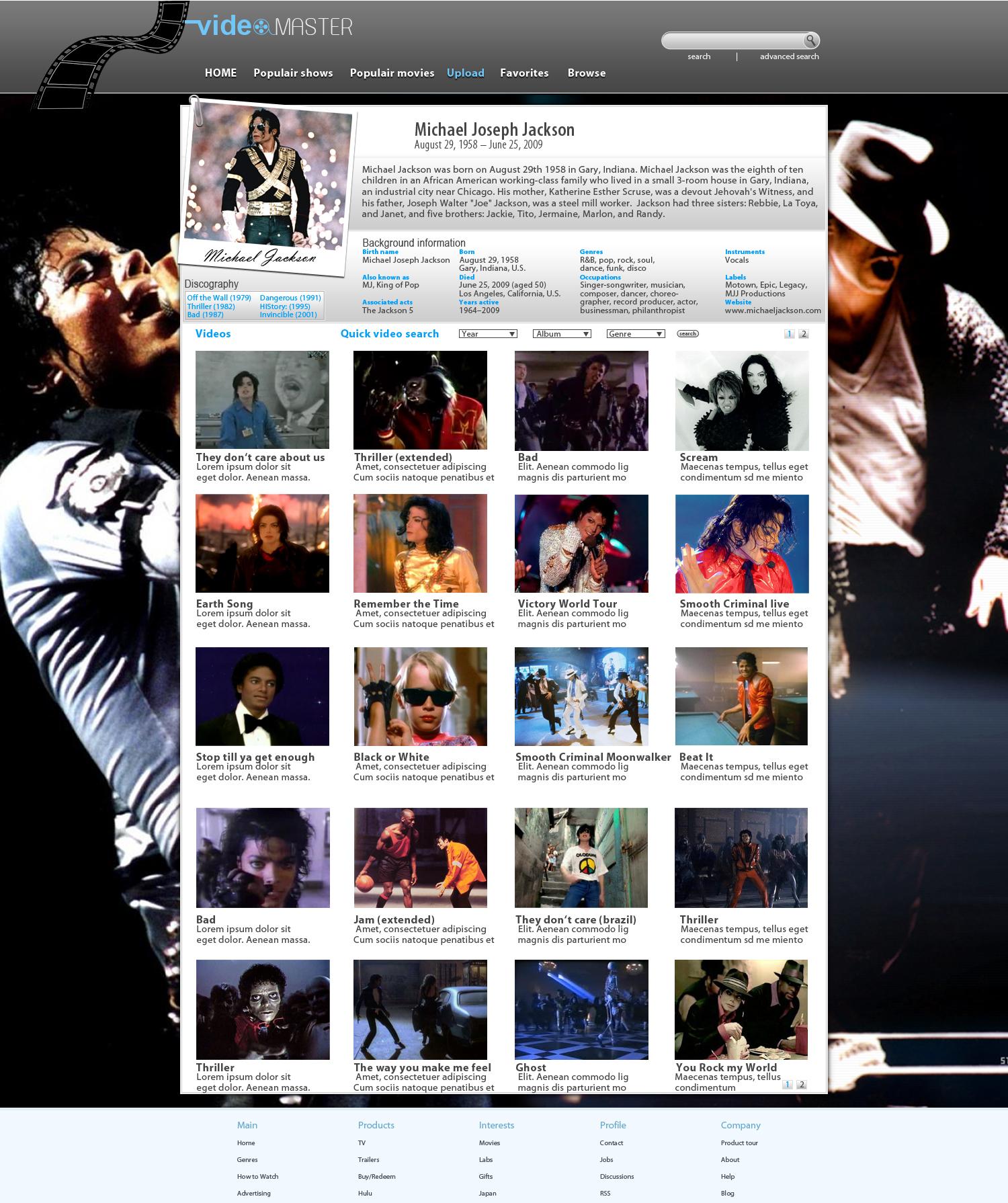 VideoMaster-Artist-ProfilePage