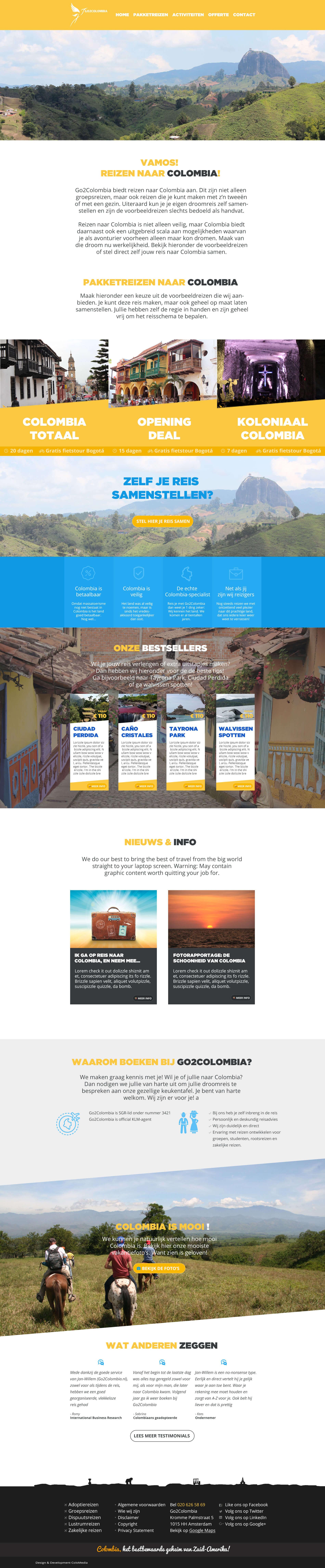 Go2Colombia - betaalbare reizen naar Colombia